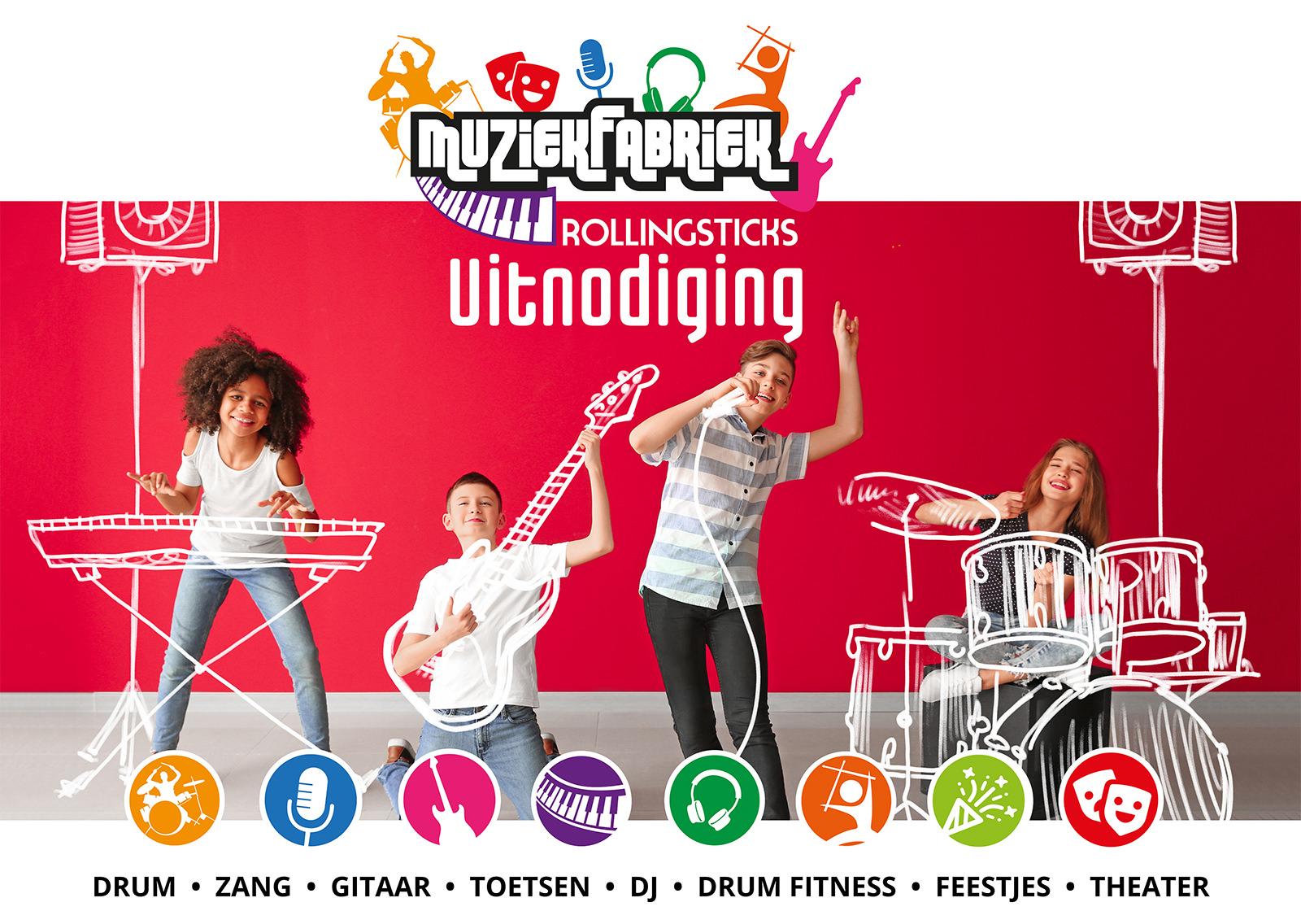 Zangles Gouda, Gitaarles Gouda, Drumles Gouda, Pianoles Gouda, drumfitness, theater, kinderfeestjes, DJ les